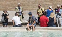 罗马保护地标景点 明令禁止在喷泉附近饮食